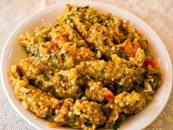 Кьопоолу с печени патладжан, чушки капия и магданоз - снимка на рецептата